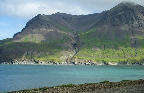 Iceland Inlet Cliffs Precipices Fjord