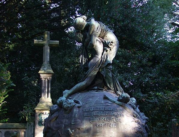 Sepulchre Grief Cemetery Graveyard Mourning Sculpt