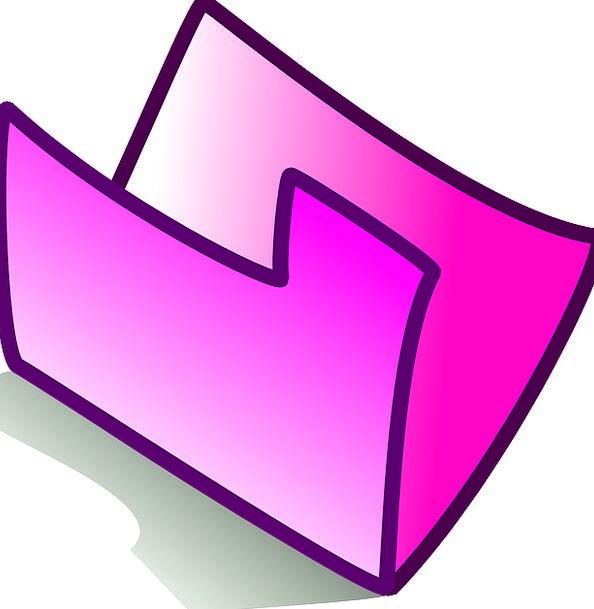 Folder Binder Flushed Theme Melody Pink Empty Unfi