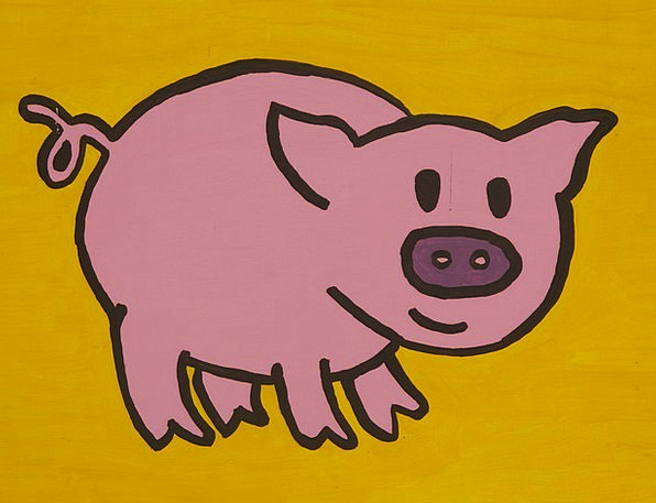 Pig Glutton Drawing Sketch Cartoon Character Funny