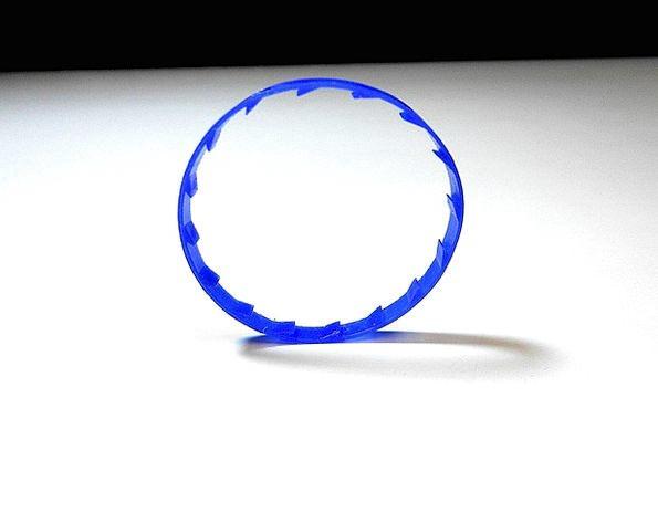 Ring Round Rotund Circle Tab Tag Roll Milk Blue Ge