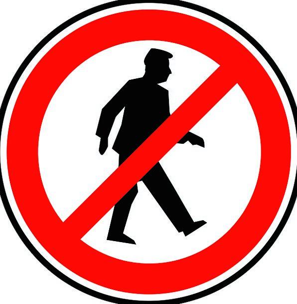 No Walking Traffic Transportation Pedestrian Dull