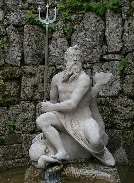 Neptune Figut Stone Figure Neptune'S Grotto Triden