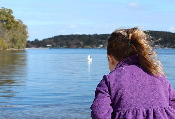 Girl Lassie Aquatic Outdoors Out-of-doors Water We
