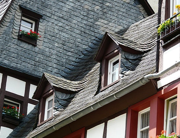 Roof Rooftop Buildings Architecture Gable Slate Ro