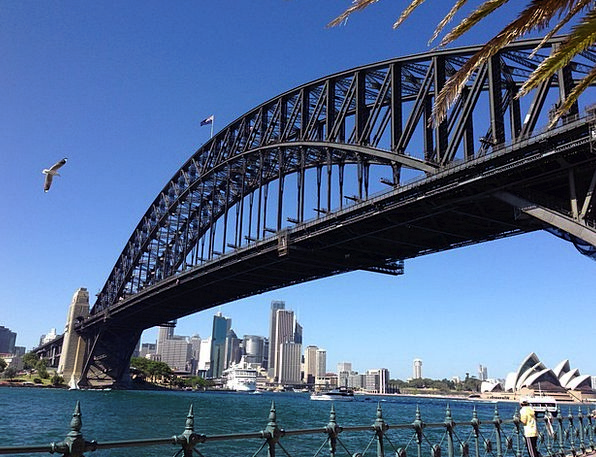 Sydney Harbour Bridge Buildings Architecture Bridg