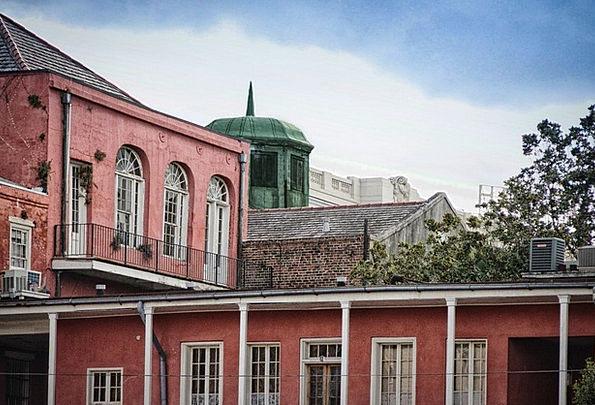 New Orleans Red Bloodshot French Quarter Houses Ho