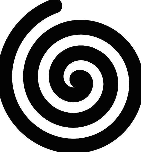 Spiral Twisting Arc Bold Brave Curve Round Rotund