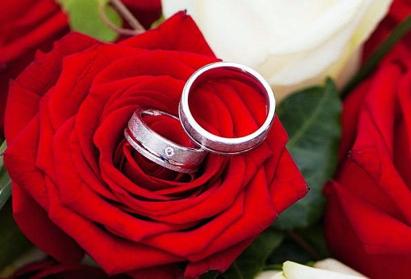 Rose Design Bridal Together Composed Wedding Bride