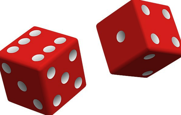 Dice Cube Bloodshot Two Binary Red Play Game Willi