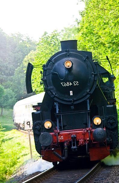 Steam Engine Traffic Important Transportation Trai
