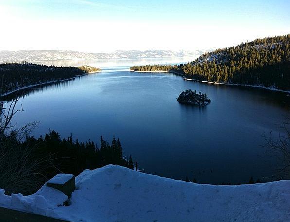 Lake Tahoe Landscapes Snowflake Nature Winter Seas