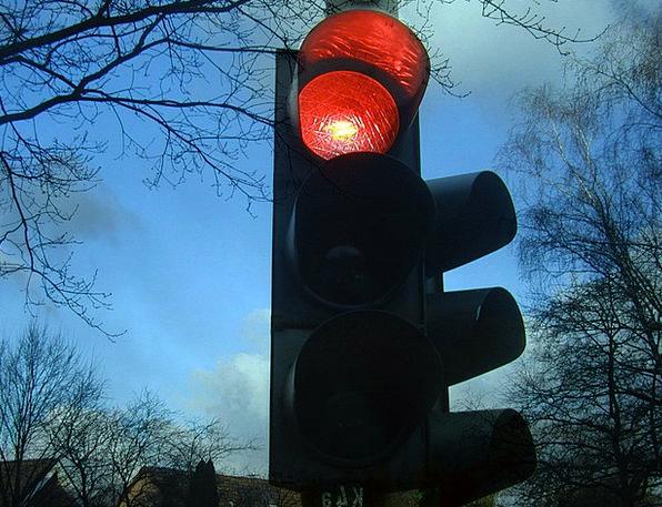 Traffic Lights Bloodshot Stop Halt Red Light Signa
