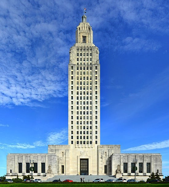 Baton Rouge Buildings Architecture State Capitol L