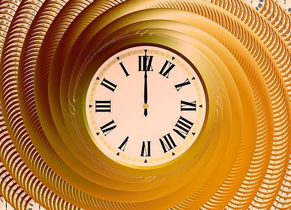 Clock Timepiece Period Time Indicating Time Lines
