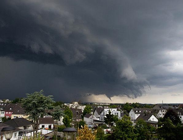Thunderstorm Buildings Tempest Architecture Rain V