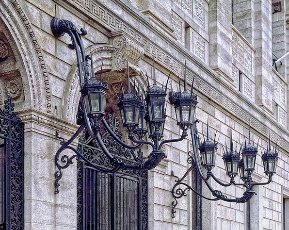 Boston Public Library Monuments Places Facade Fron