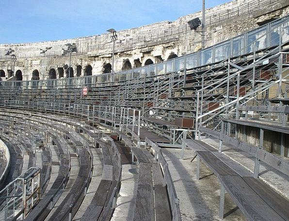 Colosseum Monuments Stadium Places Nimes Arena Amp