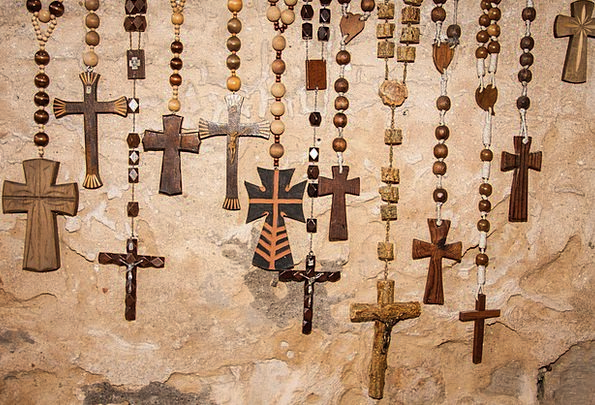 Rosary Beads Drops Rosaries Church Christian Place