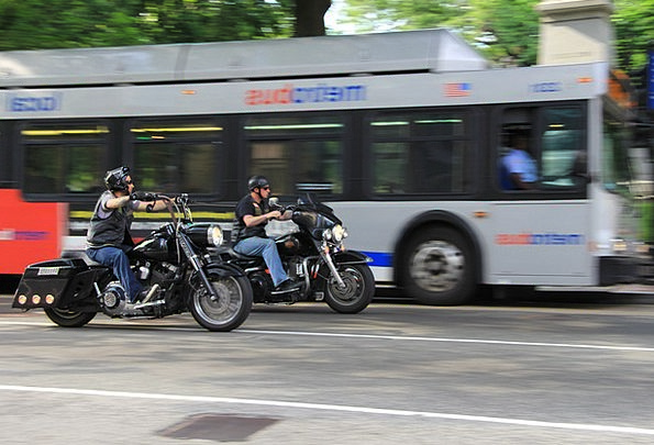 Harley-Davidson Train Bikers Motorcyclists Engine