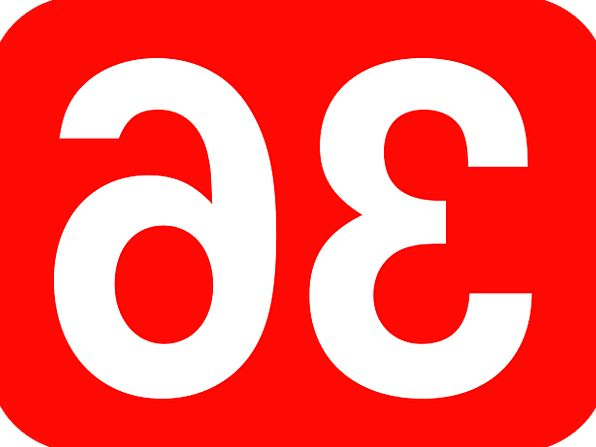 Number Amount Rounded Round 36 Rectangle Box Red W