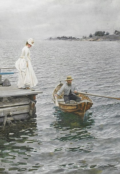 Rowing Boat Gumboot Lady Woman Boot Anders Zorn Pa