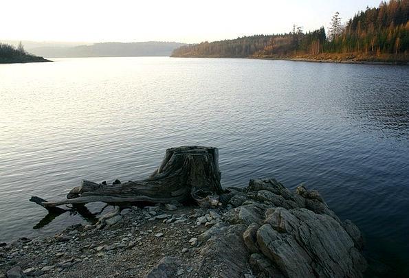 Dam Barrier Freshwater Stump Base Lake Slezská Har