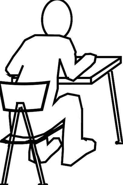 how to draw a school desk and chair