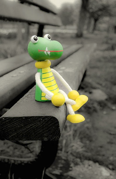 Lost Misplaced Doll Crocodile Line Toy Puppet Mari