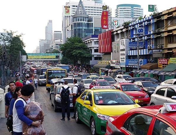 Thailand Traffic Transportation Traffic Jam Bottle