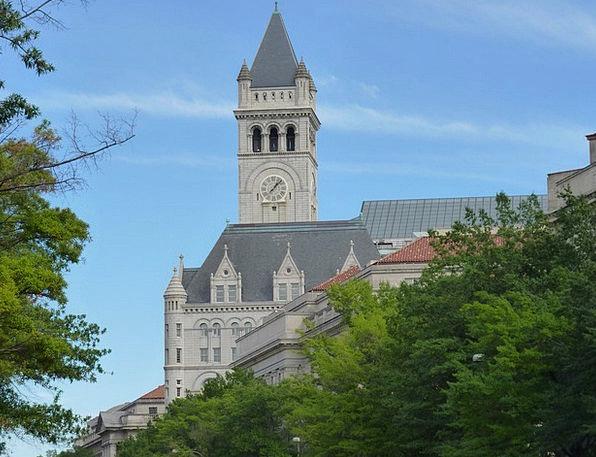 Church Ecclesiastical Sky Blue Washington Washingt