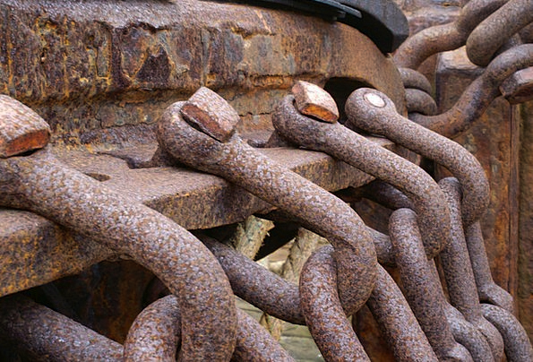 Iceland Vessel Chains Manacles Ship Rust Corrosion