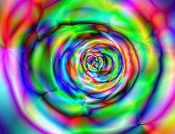 Rose Hallucinogenic Neon Psychedelic Grunge Decora