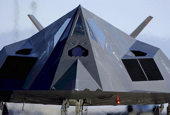 Stealth Furtiveness Plane F-117 Jet Military Night