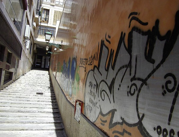 Stairs Staircases Traffic Transportation Graffiti