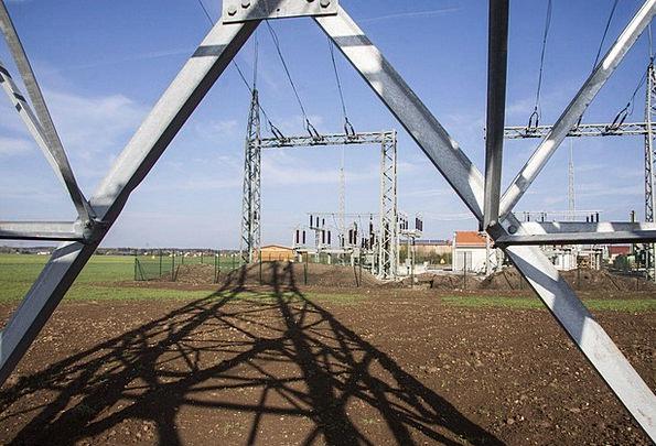 Substation Power Supply Strommast Sky Power Lines