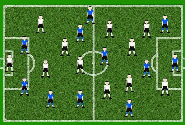 Football Ball Park Players Companies Playing Field