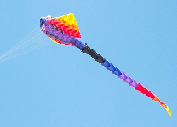 Kite Interesting Huge Enormous Colorful Fly Hover