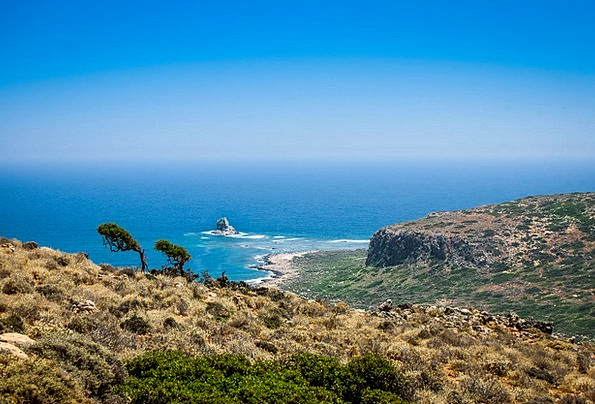 Crete Vacation Seashore Travel Sea Marine Beach Bl