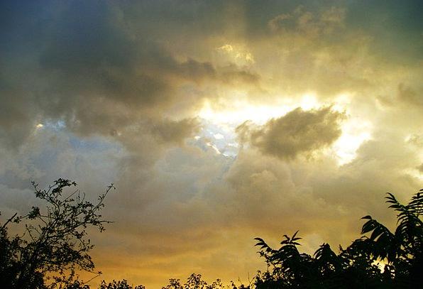 Sky Blue Illuminations Clouds Vapors Lights Storm