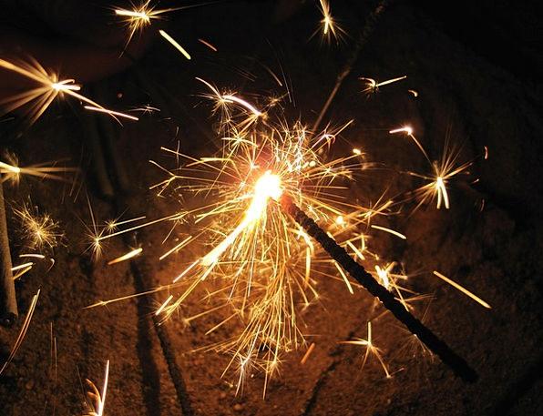 Sparkler Rocket Bright Lights Illuminations Light