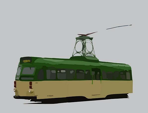 Tram Traffic Transportation Trolley Car Streetcar