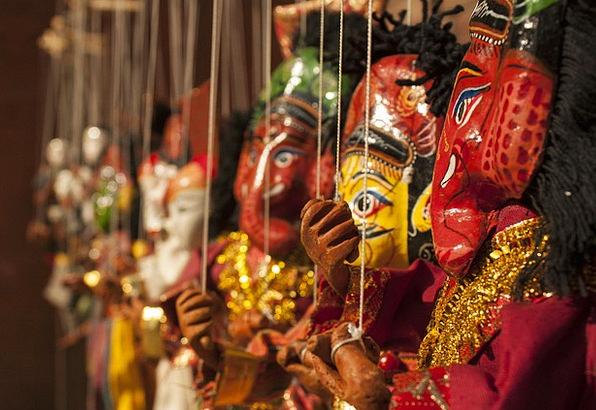 Puppet Marionette Divinities Dolls Deities Nepal T