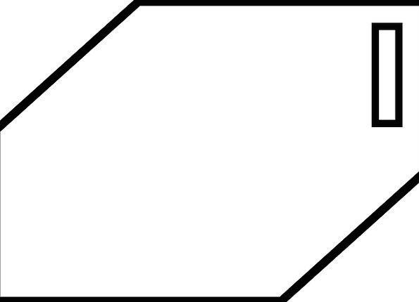 Block Chunk Form One Unique Shape Slot Slit Geomet