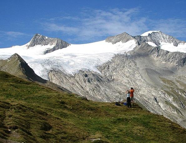 Großvenediger Landscapes Crag Nature Alpine Mounta