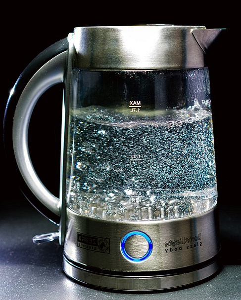 Kettle Pot Cut-glass Water Aquatic Glass Air Bubbl