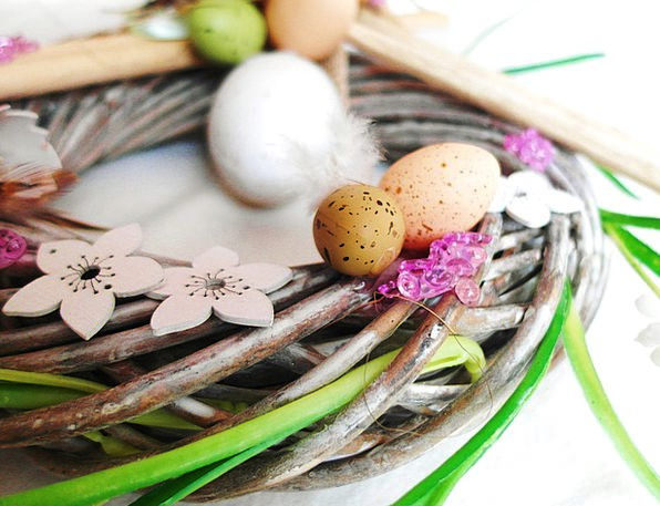 Easter Landscapes Nature Art Painting Easter Eggs