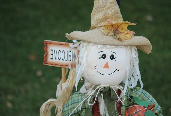 Scarecrow Figure Reduction Autumn Fall Harvest Cro