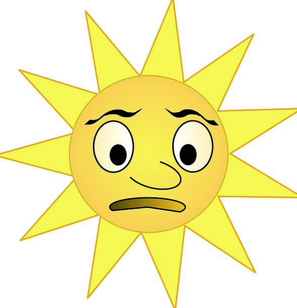 Sun Emissions Grumpy Irritable Rays Bright Cheerfu