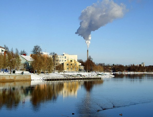Oulu Buildings Architecture River Stream Finland S